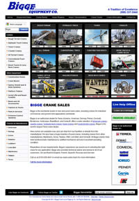 Website development (PHP, MYSQL) for bigge Equipment sales