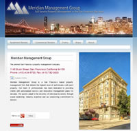 Website development for meridian management group